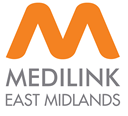 Image shows the  Medilink East Midlands logo